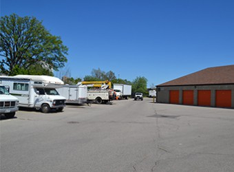 View of Dayton Self Storage Vehicle Storage in Scarborough Central.